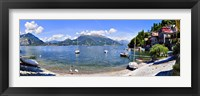 Framed Boats on Lake Como
