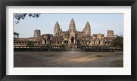Framed Facade of a temple, Angkor Wat, Angkor, Siem Reap, Cambodia