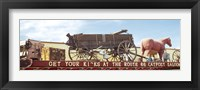 Framed Low angle view of a horse cart statue, Route 66, Arizona, USA