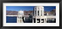 Framed Dam on a river, Hoover Dam, Colorado River, Arizona-Nevada, USA