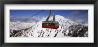 Framed Overhead cable car in a ski resort, Snowbird Ski Resort, Utah