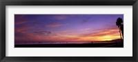 Framed Sunset over the ocean, Santa Barbara, California, USA