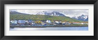 Framed Town at waterfront, Ushuaia, Tierra Del Fuego, Argentina