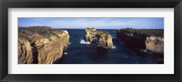 Framed Rock formations in the ocean, Campbell National Park, Great Ocean Road, Victoria, Australia