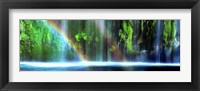 Framed Rainbow formed in front of a waterfall in a forest, Dunsmuir, Siskiyou County, California