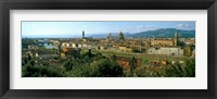 Framed Buildings in a city with Florence Cathedral in the background, San Niccolo, Florence, Tuscany, Italy