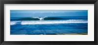Framed Waves in the ocean, North Shore, Oahu, Hawaii