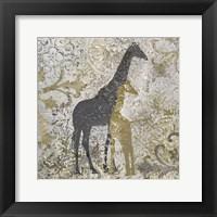 Framed Giraffes Exotiques
