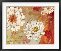 Lush Crimson II Framed Print