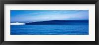 Framed Bright Blue Ocean View