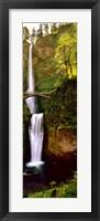 Framed Footbridge in front of a waterfall, Multnomah Falls, Columbia River Gorge, Multnomah County, Oregon