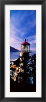 Framed Lighthouse at a coast, Heceta Head Lighthouse, Heceta Head, Lane County, Oregon (vertical)