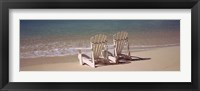 Framed Adirondack chair on the beach, Bahamas