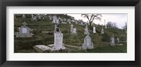 Framed Tombstone in a cemetery, Saxon Church, Biertan, Transylvania, Mures County, Romania