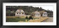 Framed Houses in a village, Biertan, Transylvania, Mures County, Romania
