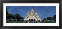 Framed Crowd at a basilica, Basilique Du Sacre Coeur, Montmartre, Paris, Ile-de-France, France