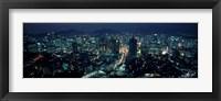 Framed Aerial view of a city, Seoul, South Korea 2011