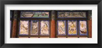Framed Paintings in a Buddhist temple, Kayasan Mountains, Haeinsa Temple, Gyeongsang Province, South Korea