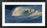 Framed Waves breaking in the pacific ocean, Waimea Bay, Oahu, Hawaii, USA