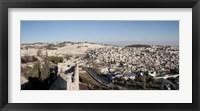 Framed House on a hill, Mount of Olives, and City of David, Jerusalem, Israel