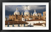 Framed Low angle view of a cathedral, Immaculate Conception Cathedral, Cuenca, Azuay Province, Ecuador