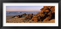 Framed Rock formations on the beach, Carrapateira Beach, Algarve, Portugal