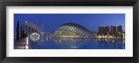 Framed Opera house at the waterfront, Ciutat De Les Arts I Les Ciencies, Valencia, Spain
