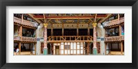 Framed Interiors of a stage theater, Globe Theatre, London, England