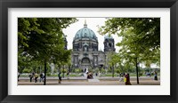 Framed People in a park in front of a cathedral, Berlin Cathedral, Berlin, Germany
