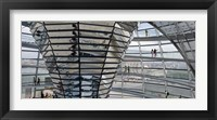 Framed Mirrored cone at the center of the dome, Reichstag Dome, The Reichstag, Berlin, Germany