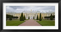 Framed Facade of a palace, Peterhof Grand Palace, St. Petersburg, Russia
