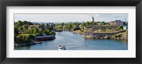 Framed Fortress at the waterfront, Suomenlinna, Helsinki, Finland