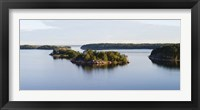 Framed Small islands in the sea, Stockholm Archipelago, Sweden