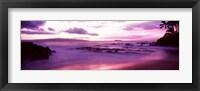 Framed Maui Coast at sunset, Makena, Maui, Hawaii, USA