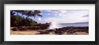 Framed Rock formations at the coast, Maui Coast, Makena, Maui, Hawaii, USA