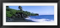 Framed Tide on the beach, Black Sand Beach, Hana Highway, Waianapanapa State Park, Maui, Hawaii, USA