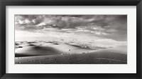 Framed Sahara Desert landscape, Morocco (black and white)
