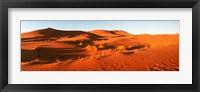 Framed Desert at sunrise, Sahara Desert, Morocco