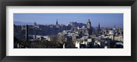 Framed High angle view of buildings in a city, Edinburgh, Scotland