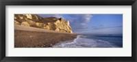 Framed Surf on the beach, Hooken Beach, Branscombe, Devon, England