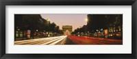 Framed Traffic on the road, Avenue des Champs-Elysees, Arc De Triomphe, Paris, Ile-de-France, France