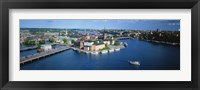 Framed Aerial view of an island, Riddarholmen Island, Riddarfjarden, Stockholm, Sweden
