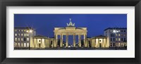 Framed City gate lit up at night, Brandenburg Gate, Pariser Platz, Berlin, Germany