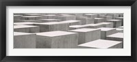 Framed Holocaust memorial, Monument to the Murdered Jews of Europe, Berlin, Germany