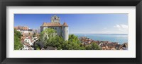 Framed Castle on a hill, Meersburg Castle, Lake Constance, Baden-Wurttemberg, Germany