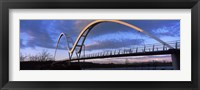 Framed Modern bridge over a river, Infinity Bridge, River Tees, Stockton-On-Tees, Cleveland, England