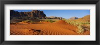 Framed Jebel Qatar from the valley floor, Wadi Rum, Jordan