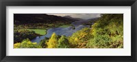Framed Lake flowing through a forest, Loch Tummel, Pitlochry, Perthshire, Scotland