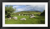 Framed Piper's Stone, Bronze Age Stone Circle (1400-800 BC) of 14 Granite Boulders, Near Hollywood, County Wicklow, Ireland