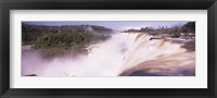 Framed Waterfall after heavy rain, Iguacu Falls, Argentina-Brazil Border